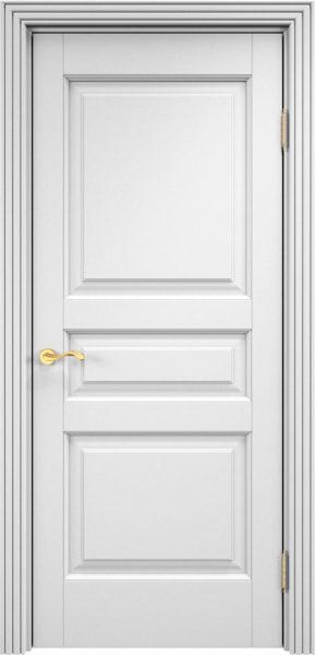 Дверь из массива ольхи Ол5 белая эмаль