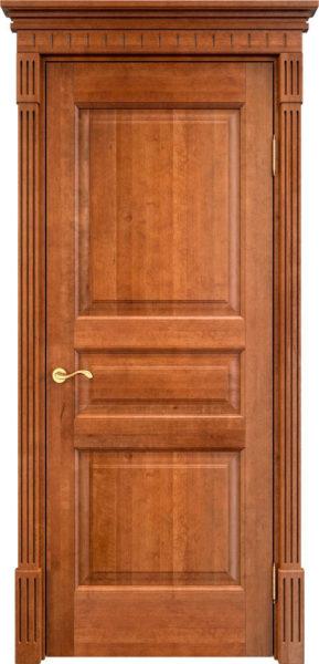 Дверь из массива ольхи Ол5 орех 10%