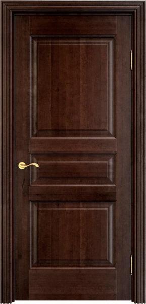 Дверь из массива ольхи Ол5 орех 15%