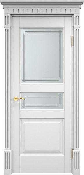 Дверь из массива ольхи Ол5 ПО белая эмаль