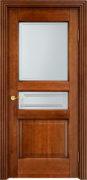 Дверь из массива ольхи Ол5 ПО коньяк патина