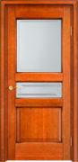 Дверь из массива ольхи Ол5 ПО медовый патина
