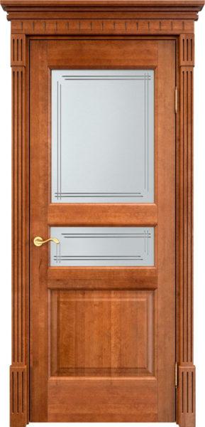 Дверь из массива ольхи Ол5 ПО орех 10%