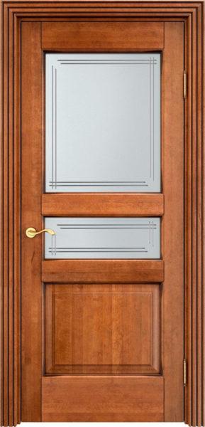 Дверь из массива ольхи Ол5 ПО орех 10% патина