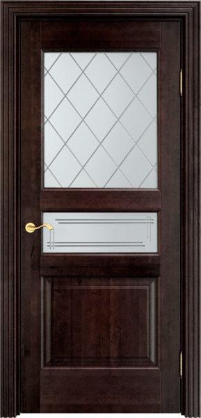 Дверь из массива ольхи Ол5 ПО венге