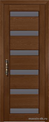 Дверь из массива сосны Палермо стекло орех