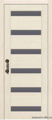 Дверь из массива сосны Палермо стекло слоновая кость