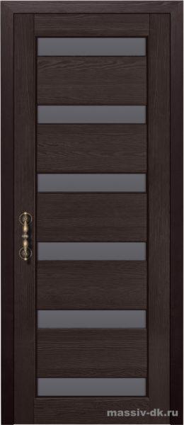 Дверь из массива сосны Палермо стекло венге