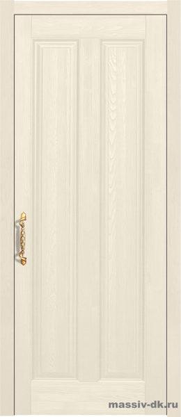 Дверь из массива сосны Сорренто стекло орех
