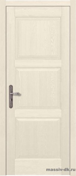 Дверь из массива сосны Турин слоновая кость