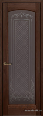 Дверь из массива сосны Витраж орех