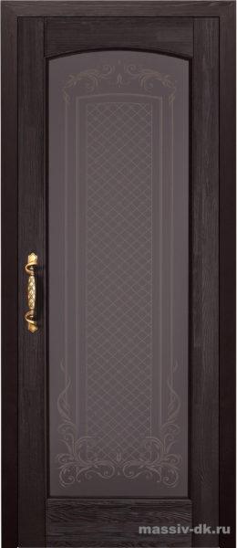 Дверь из массива сосны Витраж венге