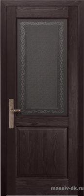 Дверь из массива сосны Элегия стекло венге