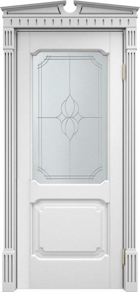Дверь из массива ольхи Ол7 ПО белая эмаль