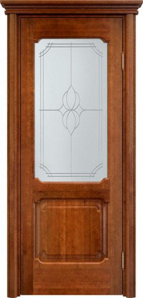 Дверь из массива ольхи Ол7 ПО коньяк