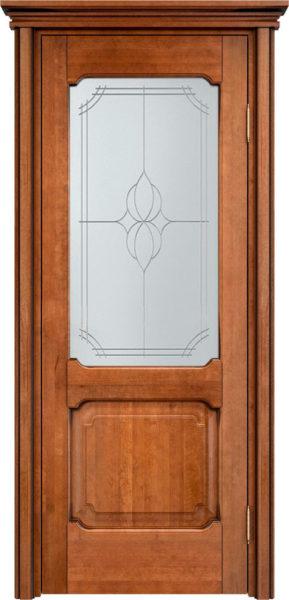 Дверь из массива ольхи Ол7 ПО орех 10% патина