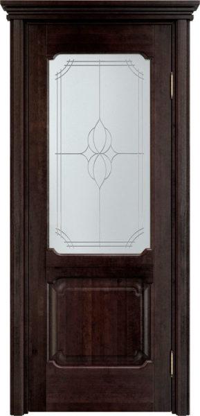 Дверь из массива ольхи Ол7 ПО венге