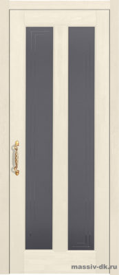 Дверь из массива сосны Сорренто стекло слоновая кость