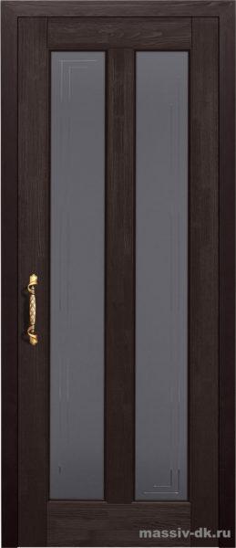 Дверь из массива сосны Сорренто стекло венге