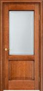 Дверь из массива ольхи Ол6-2 ПО орех 10% патина
