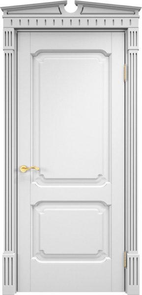 Дверь из массива ольхи Ол7 белая эмаль