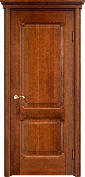 Дверь из массива ольхи Ол7 коньяк