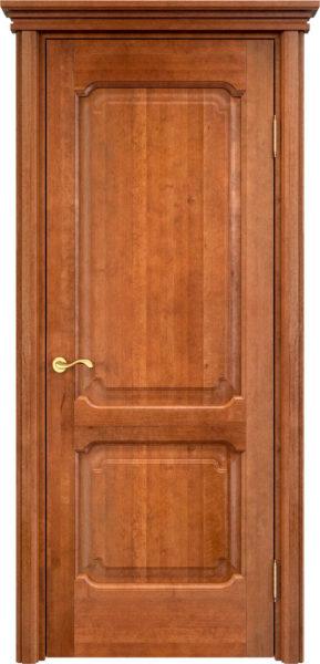 Дверь из массива ольхи Ол7 орех 10%