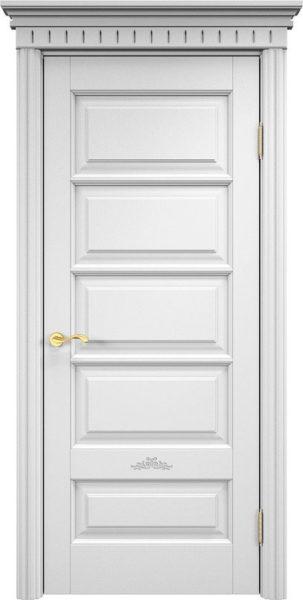 Дверь из массива ольхи Ол44 белая эмаль