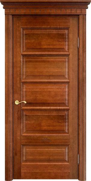 Дверь из массива ольхи Ол44 коньяк