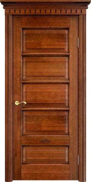 Дверь из массива ольхи Ол44 коньяк патина орех