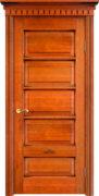 Дверь из массива ольхи Ол44 медовый патина