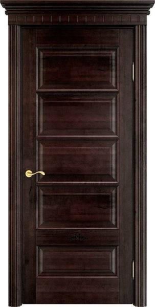 Дверь из массива ольхи Ол44 венге