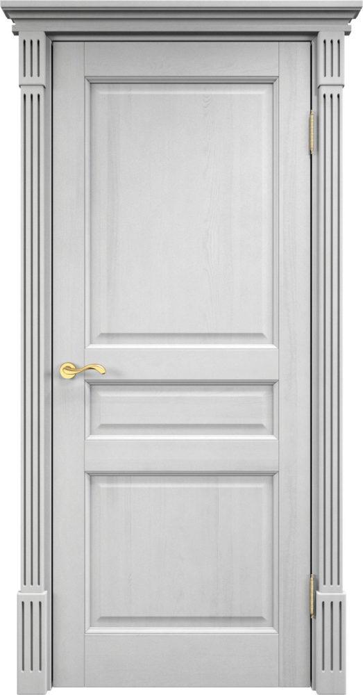 Дверь из массива сосны 5Ш ДГФ белый воск