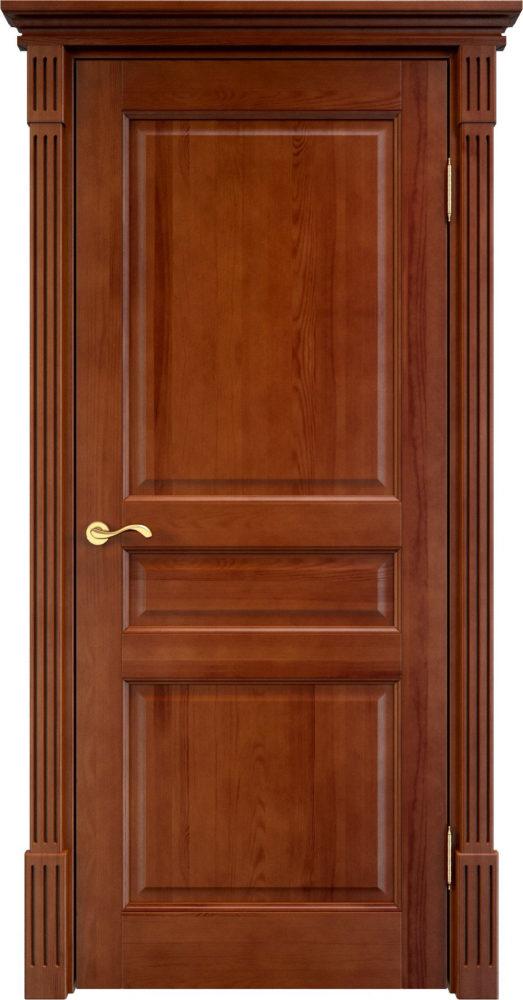 Дверь из массива сосны 5Ш ДГФ орех