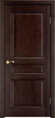 Дверь из массива сосны 5Ш ДГФ венге