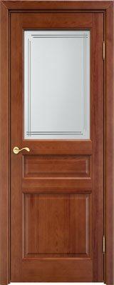 Дверь из массива сосны 5Ш ДОФ коньяк