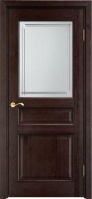 Дверь из массива сосны 5Ш ДОФ венге