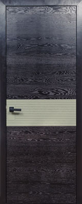 Дверь Д66 пластрон черная эмаль + олива ПМЦ