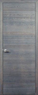 Дверь Д66 с полосками вороново крыло