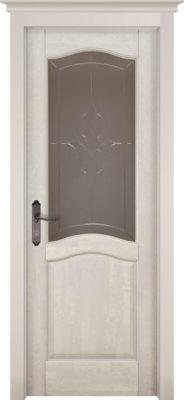 Дверь из массива ольхи Лео ПО слоновая кость