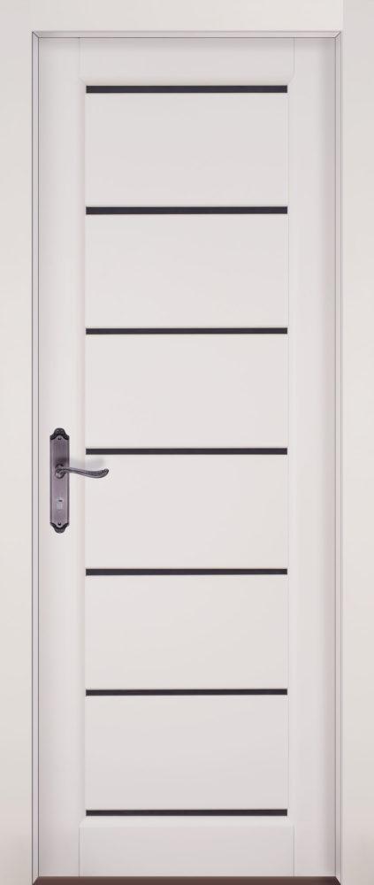 Дверь из массива ольхи Премьер плюс ПЧО белая эмаль
