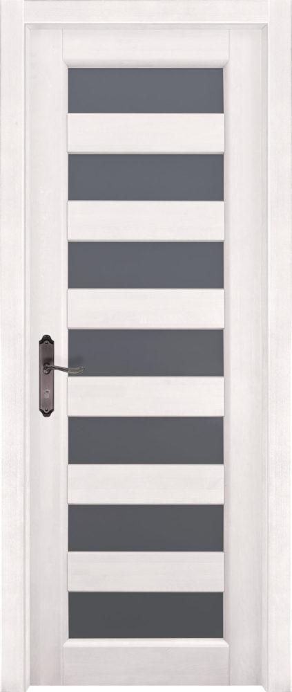 Дверь из массива ольхи Премьер Плюс ПО белая эмаль