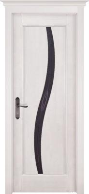 Дверь из массива ольхи Соло белая эмаль