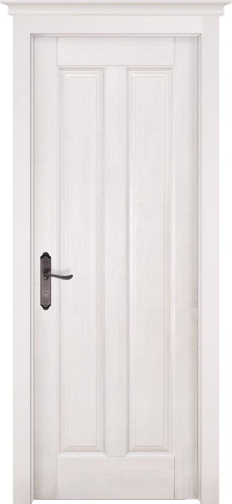 Дверь из массива ольхи Сорренто белая эмаль