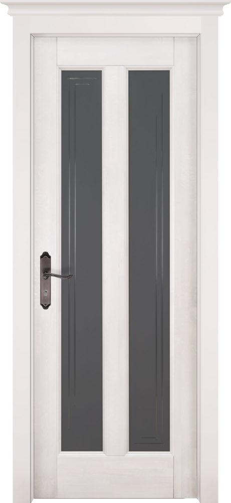 Дверь из массива ольхи Сорренто ПО белая эмаль
