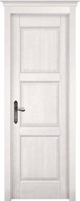 Дверь из массива ольхи Турин белая эмаль