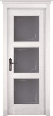 Дверь из массива ольхи Турин ПО белая эмаль