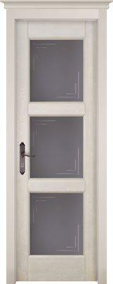 Дверь из массива ольхи Турин ПО слоновая кость