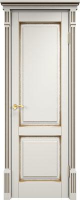 Дверь из массива сосны 112Ш ДГФ ПМЦ слоновая кость патина