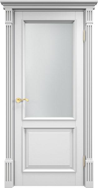 Дверь из массива сосны 112Ш ДОФ белая эмаль
